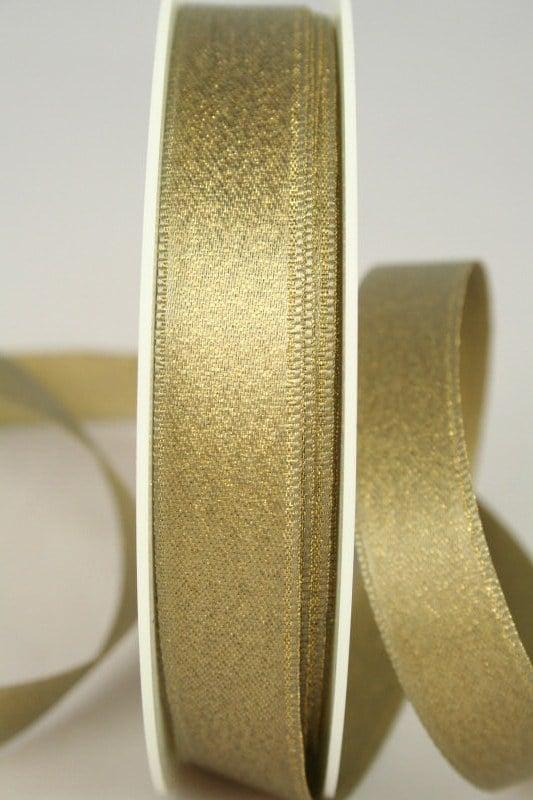 Schimmerndes Satinband altgold, 15 mm breit - weihnachtsband, satinband
