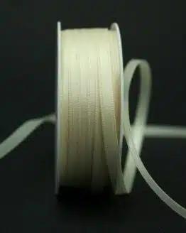 Satinband 'double face' creme, 6 mm breit - hochzeit, anlasse