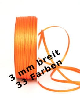 Satinband 3 mm breit - satinband, satinband-dauersortiment, dauersortiment