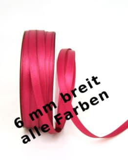 Satinband 6 mm breit - satinband, satinband-dauersortiment, dauersortiment