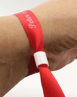 Individuell bedruckte Stoff-Armbänder / Einlassbänder, 10 oder 15 mm breit, 72 Stück als 25m-Rolle - satinband, personalisierte-baender, armbaender