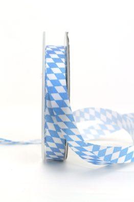 Schleifen-Deko-Band Bayern-Raute blau-weiss 15mm