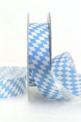 Schleifen-Deko-Band Bayern-Raute blau-weiss 25mm