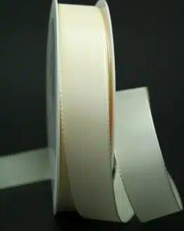 Schleifenband creme, 25 mm breit - hochzeit, anlasse