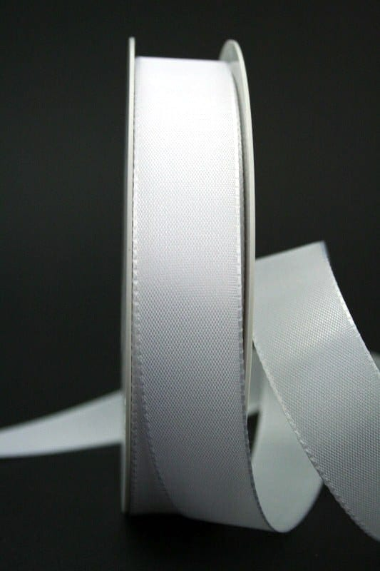 schleifenband wei 25 mm breit geschenkband discount geschenkb nder preiswert in gro er auswahl. Black Bedroom Furniture Sets. Home Design Ideas