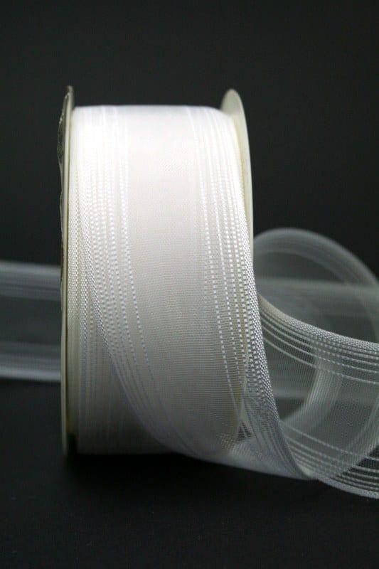 Transparentes Hochzeitsband, weiß, 40 mm breit - hochzeit, anlasse