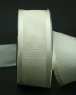 Schleifenband creme, Moiré mit Satin, 40 mm breit - hochzeit, anlasse
