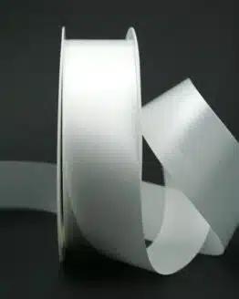 Wetterfestes Schleifenband weiß, 40 mm - hochzeit, polyband, outdoor-bander, anlasse