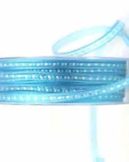 Schmales Geschenkband, aqua, 10 mm breit - geschenkband-gemustert