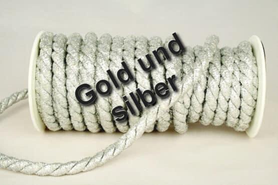 Zierkordel in Gold und Silber, 10 mm Stärke - kordeln