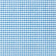 Serviette Vichy blau - servietten, oktoberfest, anlasse