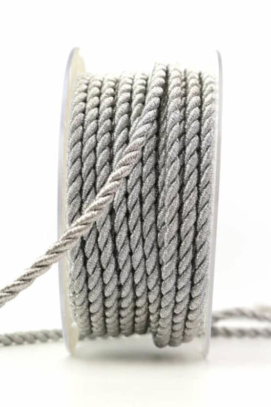 Kordel, silber matt, 4 mm stark - kordeln, andere-baender