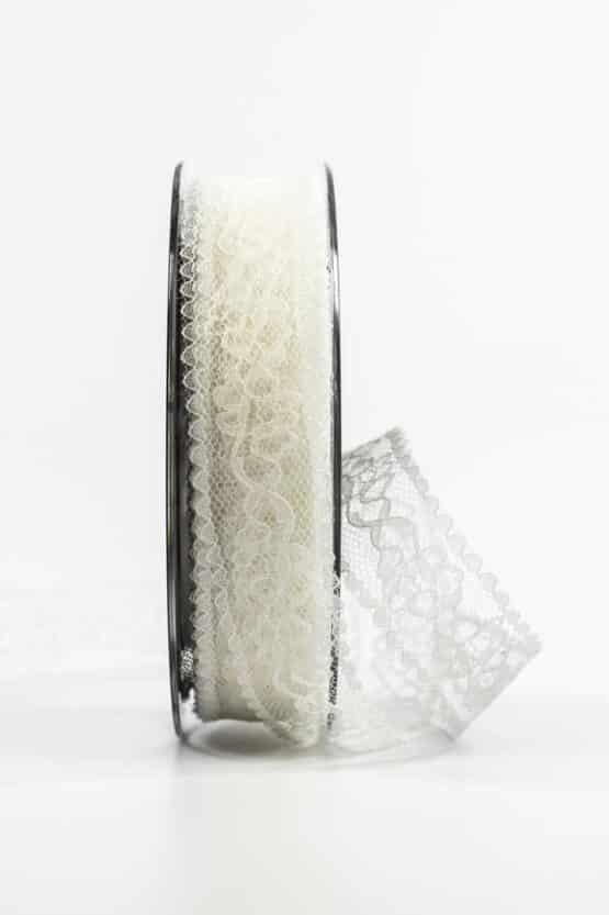 Feines Spitzenband, creme, 25 mm breit - vintage-baender, spitzenbaender, hochzeit, geschenkband, geschenkband-fuer-anlaesse, anlasse