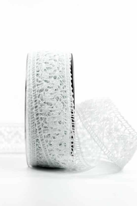 Häkelspitze, weiß, 38 mm breit - vintage-baender, spitzenbaender, hochzeit, geschenkband, geschenkband-fuer-anlaesse, anlasse