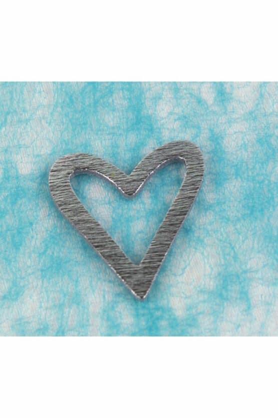 Streu-Herz aus Holz, silber - hochzeit, hochzeitsdeko, anlasse