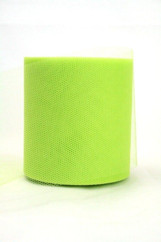 Tüll grasgrün, 100 mm breit - tull, outdoor-bander