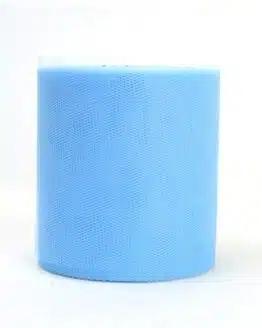 Tüll hellblau, 100 mm breit - tull, outdoor-bander