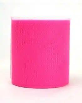 Tüll pink, 100 mm breit - tull, outdoor-bander