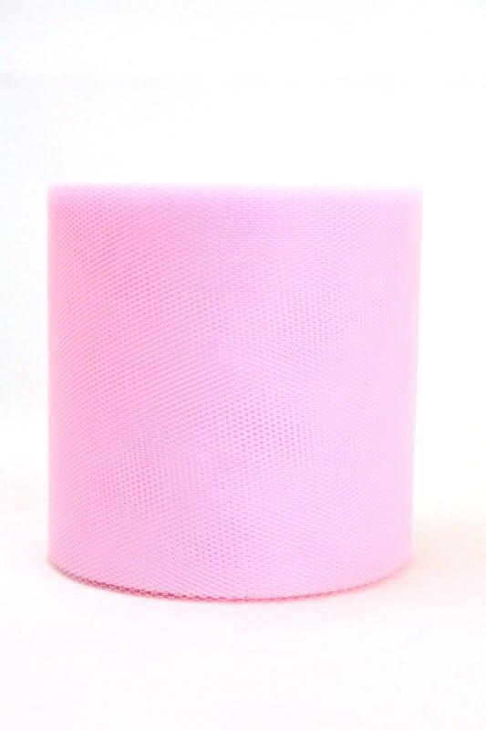 Tüll rosa, 100 mm breit - tull, outdoor-bander