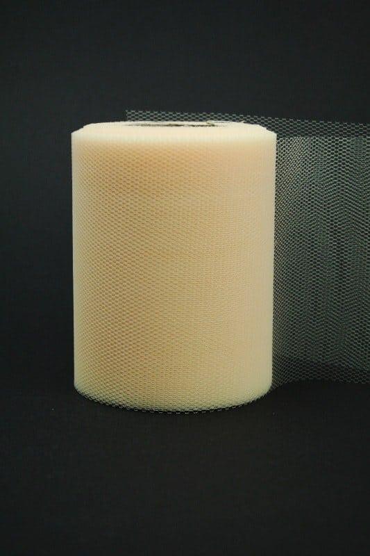 Tüll creme, 100 mm breit - tull, hochzeit, outdoor-bander, anlasse