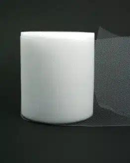 Tüll weiß, 100 mm breit - tull, hochzeit, outdoor-bander, anlasse