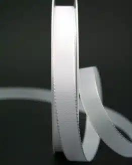 Schleifenband weiß, 15 mm breit - hochzeit, anlasse