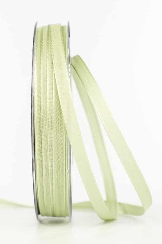 Taftband, pastellgrün, 6 mm breit - taftband