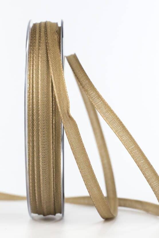 Taftband, braun, 6 mm breit - taftband