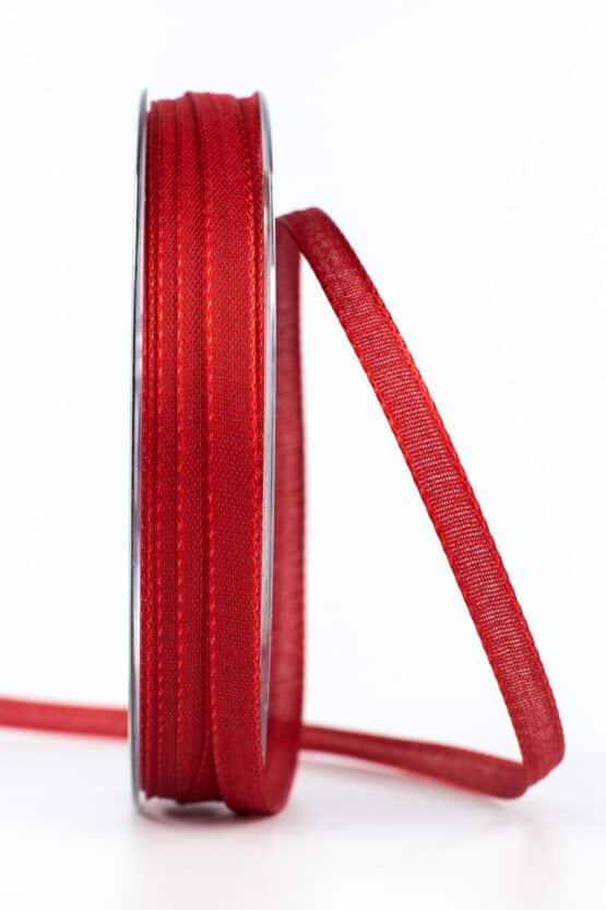 Taftband, rot, 6 mm breit - taftband