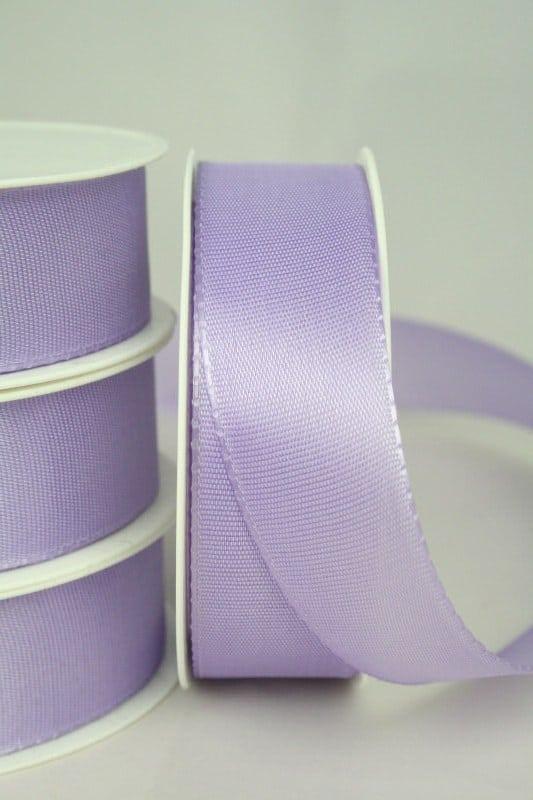 Taftband uni, 25 mm breit, flieder - taftband, sonderangebot
