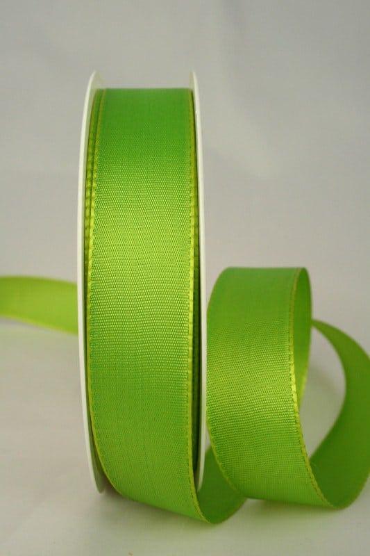 Geschenk- und Dekoband Taftband, 25 mm breit, grasgrün - taftband