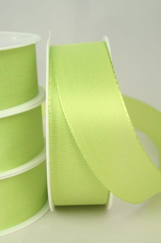 Taftband uni, 25 mm breit, maigrün - taftband, sonderangebot