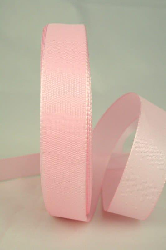 Taftband, rosa, 25 mm breit - taftband