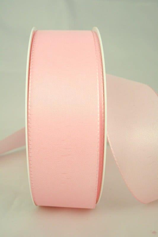Taftband, rosa, 40 mm breit - taftband