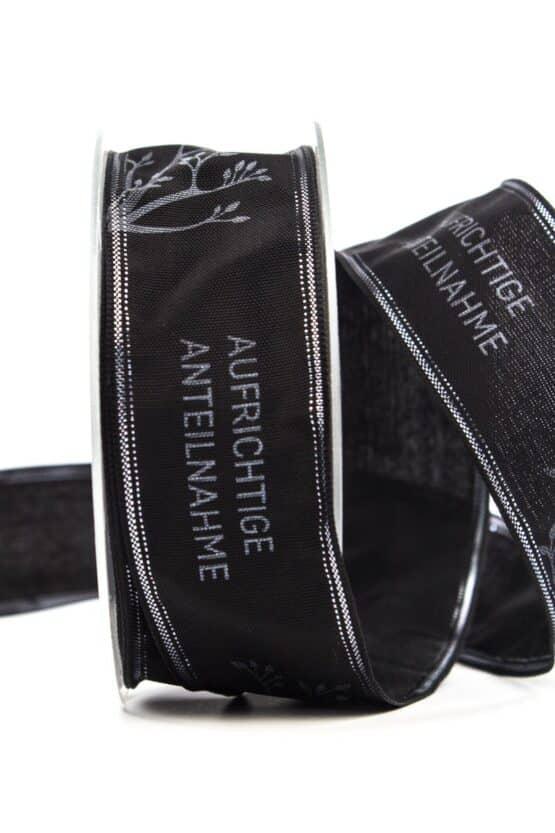 """Trauerband """"Aufrichtige Anteilnahme"""", 40 mm breit - trauerband"""