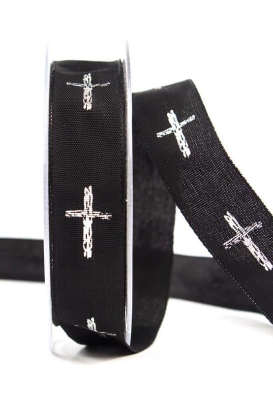 """Trauerband """"Kreuz"""", 25 mm breit - trauerband"""