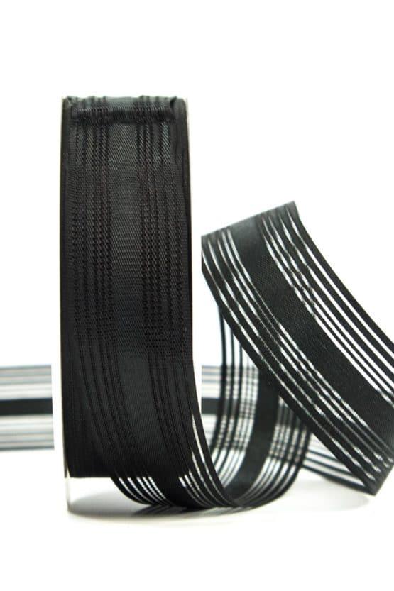Trauerflor, gestreift, schwarz, 25 mm breit - trauerband