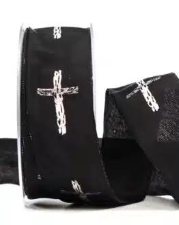 """Trauerband """"Kreuz"""", 40 mm breit - trauerband"""