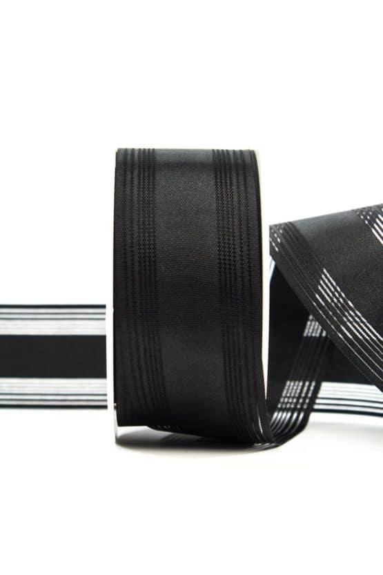 Trauerflor, gestreift, schwarz, 40 mm breit - trauerband