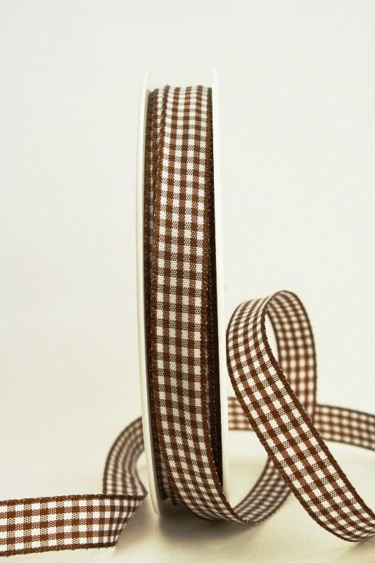 Vichy-Karo-Band, 15 mm breit, 50 m Rolle - karoband, geschenkband-kariert