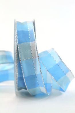 weihnachten-geschenkband-karoband-25mm-blau-silber-408342521820