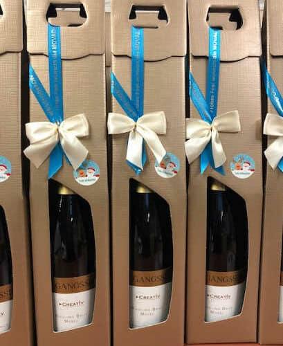 Weihnachtspräsente richtig verpacken: die Flaschenverpackung - weinhandel, weihnachtsgeschenke, personaliserte-bander, geschenkverpackungen