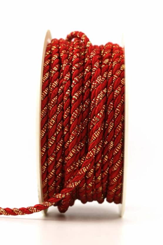 Kordel, rot-gold, 3 mm stark - kordeln, andere-baender