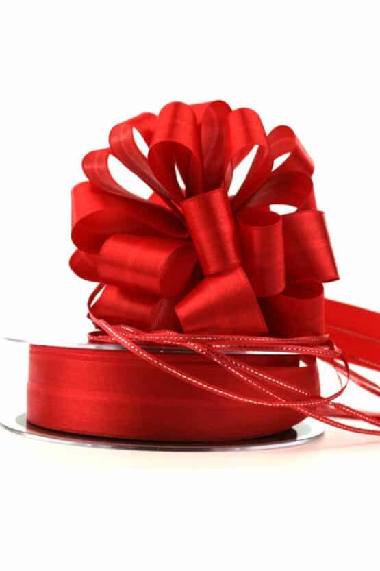 Ziehschleifenband Susifix, rot, 25 mm - hochzeit, geschenkband, geschenkband-weihnachten-einfarbig, geschenkband-weihnachten-dauersortiment, geschenkband-weihnachten, dauersortiment, geschenkband-einfarbig