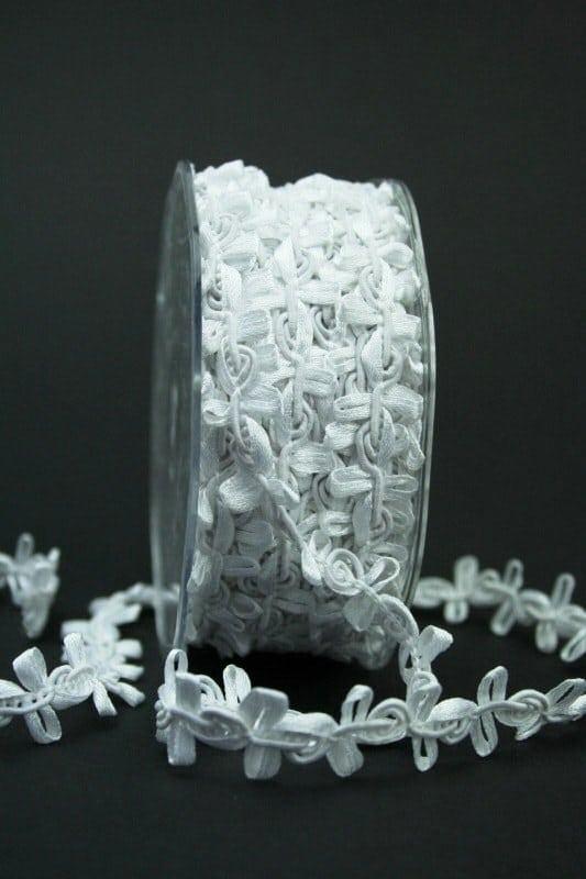 Zierband weiß, 15 mm breit - hochzeit, anlasse