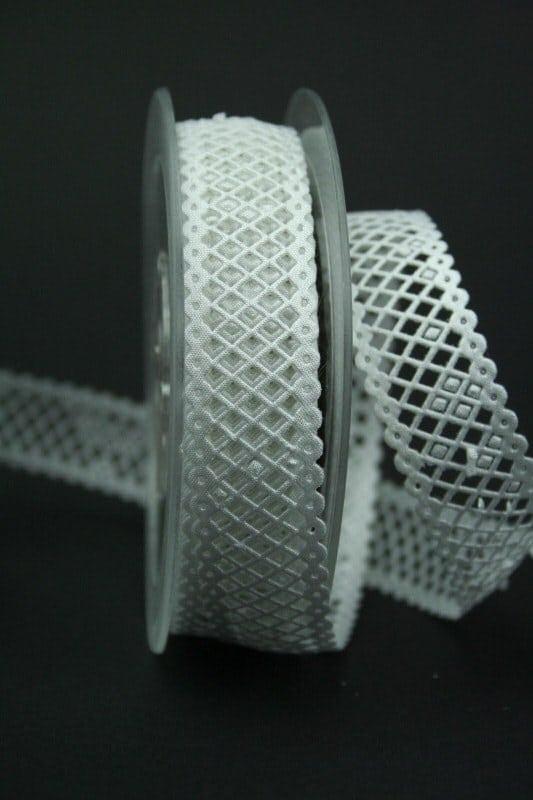 Zierborte weiß, 30 mm breit - hochzeit, anlasse