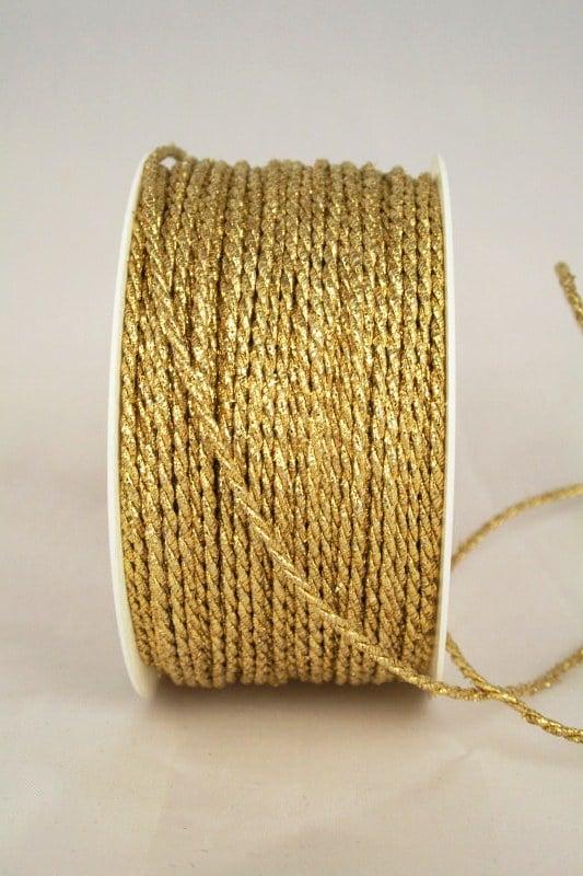Dünne Zierkordel in Gold und Silber, 2 mm Stärke - kordeln, geschenkband-weihnachten-einfarbig, geschenkband-weihnachten-dauersortiment, geschenkband-weihnachten