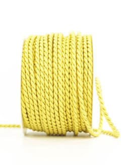 Kordel, gelb, 6 mm stark - kordeln, andere-baender