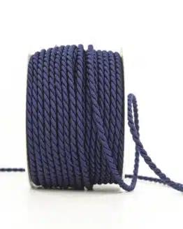 Kordel, marineblau, 4 mm stark - kordeln, andere-baender
