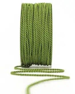 Kordel, olivgrün, 2 mm stark - kordeln, andere-baender